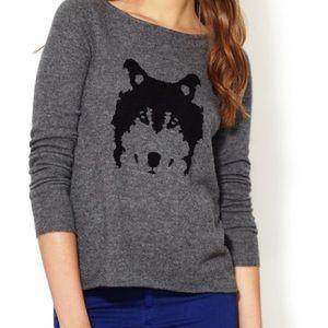 Autumn Cashmere Intarsia Wolf Sweater